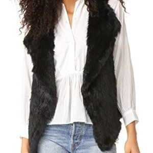 Joie REAL Black Rabbit Fur Vest